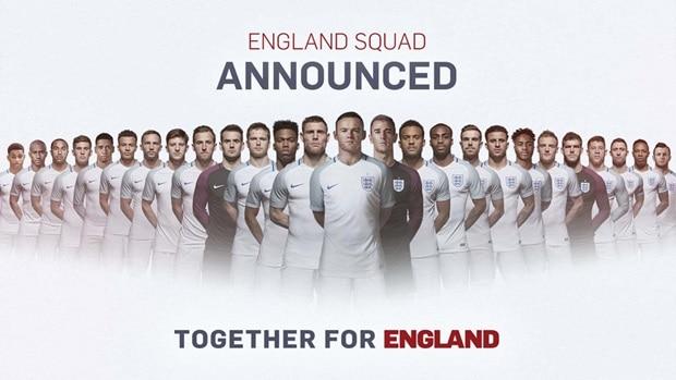 england 23 man squad euro 2016
