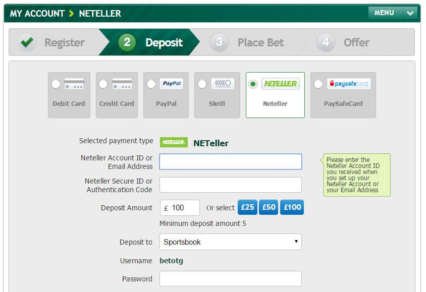 How to Use Neteller to Make Boku Deposits