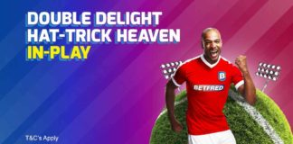betfred double delight hat-trick heaven in play