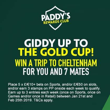 paddy power rewards club cheltenham festival prize 2019